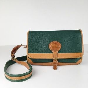 VTG 90s DOONEY & BOURKE Green Leather Shoulder Bag